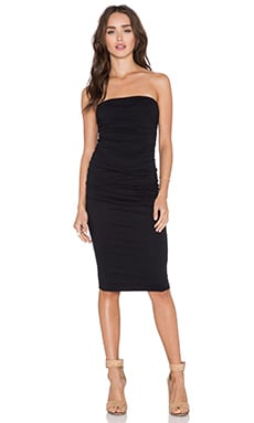 Velvet by Graham & Spencer Bayardo Gauzy Whisper Dress in Black