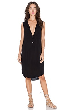 Velvet by Graham & Spencer Eliah Rayon Challis Dress in Black