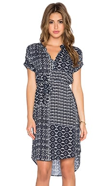 Velvet by Graham & Spencer Amabel Printed Challis Dress in Twilight