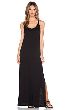 Velvet by Graham & Spencer Guenevere Cotton Slub Dress in Black