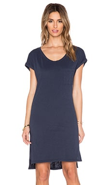 Velvet by Graham & Spencer Lanya Cotton Slub Dress in Ink