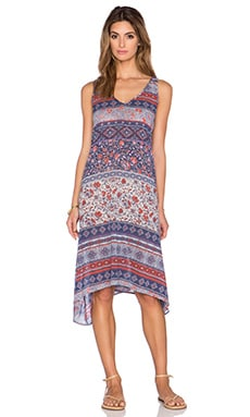 Velvet by Graham & Spencer Zach Nehru Print Dress in Multi