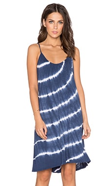 Velvet by Graham & Spencer Avita Tie Dye Luxe Slub Tank Dress in Blue