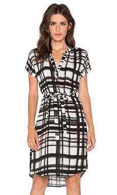 Velvet by Graham & Spencer Amabel Printed Challis Dress in Hillside