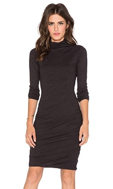 Annia Soft Texture Knit Dress in Black