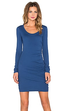 Velvet by Graham & Spencer Atarah Gauzy Whisper Dress in Deep Sea