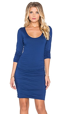 Velvet by Graham & Spencer Shayla Gauzy Whisper Long Sleeve Dress in Bluechip