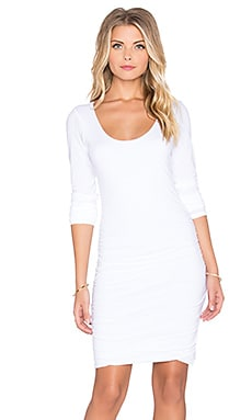 Velvet by Graham & Spencer Shayla Gauzy Whisper Long Sleeve Dress in White