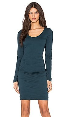 Velvet by Graham & Spencer Shayla Gauzy Whisper Long Sleeve Dress in Marina