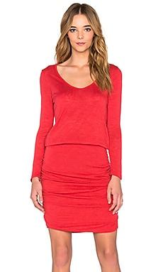 Velvet by Graham & Spencer Buffy Textured Knit 3/4 Sleeve Scoop Neck Dress in Glam