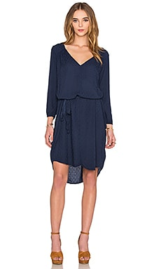 Velvet by Graham & Spencer Floressa Damask Rayon Long Sleeve Dress in Viking