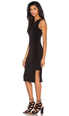 Claudine Stretch Jersey Tank Dress in Black