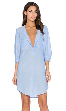 Doma Cotton Chambray Shift Dress in Chambray