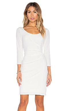 Gini Stretch Jersey 3/4 Sleeve Dress in Milk