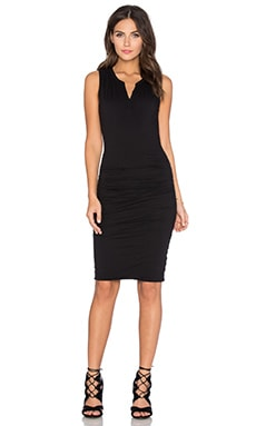 Himira Gauzy Whisper Bodycon Dress in Black