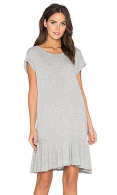 Salome Cotton Slub Dress en Gris Chiné