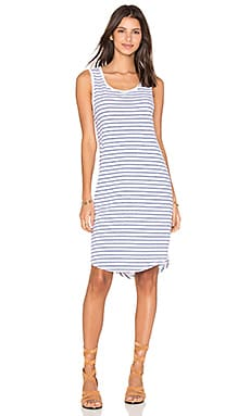 Evonne Stripe Cotton Scoop Neck Tank Dress