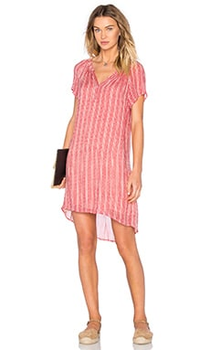 Lacey Sheer Printed Gauze Shift Dress en Bordeaux