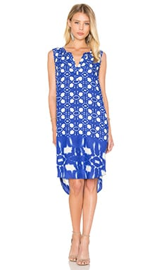 Bonita Atlantis Print Shift Dress en Bleu