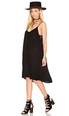 Kourtney Dobby Challis Shift Dress in Black