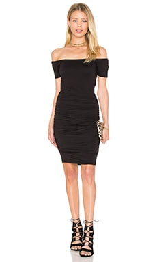 Mora Gauzy Whisper Bodycon Dress en Noir