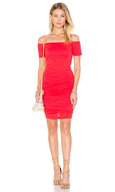 Mora Gauzy Whisper Bodycon Dress in Snapper