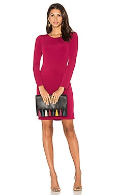 Hester Long Sleeve Bodycon Dress en Bordeaux
