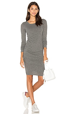 Yurel Long Sleeve Bodycon Dress in Charcoal Grey