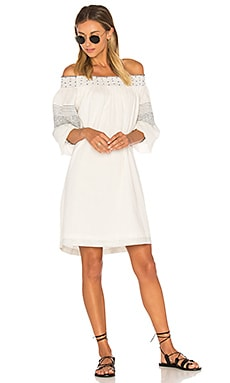 Deandria Off Shoulder Dress in Cream