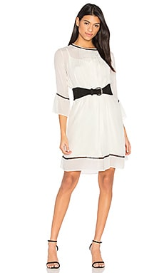 Caia Pintuck Dress in Cream