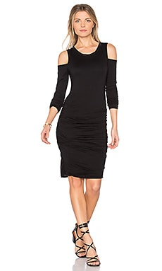 Antonella Shoulder Cut Out Dress in Black