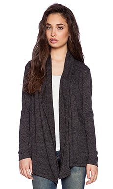 Velvet by Graham & Spencer Soft Textured Knit Horacia Cardigan in Black