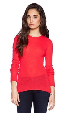 Velvet by Graham & Spencer Sheer Cashmere Shanee Sweater in Poppy