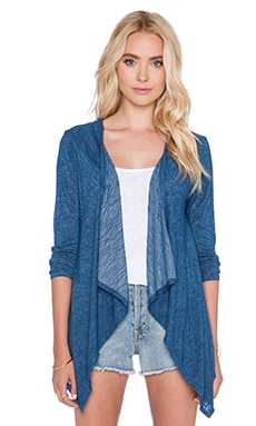 Velvet by Graham & Spencer Dayo Sheer Texture Knit Cardigan in Coastline