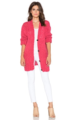 Velvet by Graham & Spencer Anais Boyfriend Cardigan in Flamingo