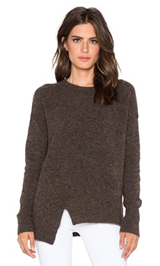 Velvet by Graham & Spencer Emylee Boucle Sweater in Coffee