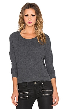 Velvet by Graham & Spencer Sancha Cozy Jersey Sweater in Charcoal