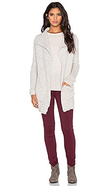 Velvet by Graham & Spencer Lee Loo Textured Slub Cardigan in Winter