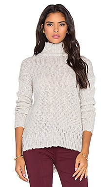 Velvet by Graham & Spencer Mona Lisa Textured Slub Turtleneck Sweater in Winter