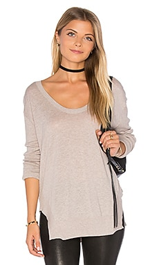 Camille V Neck Sweater in Flax