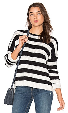 Maddilyn Sweater in Black & Milk