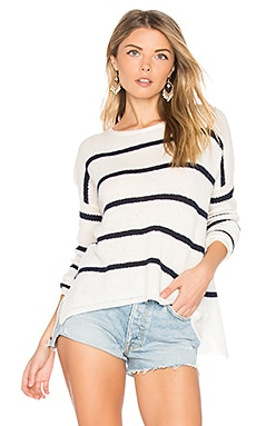 Cashmere Blend Apolla Sweater in Milk & Navy