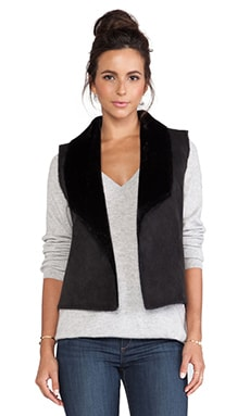 Velvet by Graham & Spencer Twiggy Faux Sherpa Vest in Black