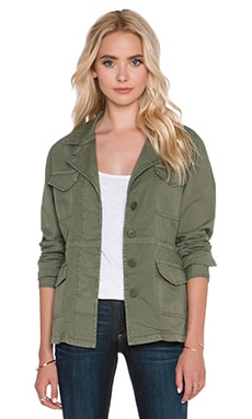 Velvet by Graham & Spencer Makenzie Cotton Twill Jacket in Forest