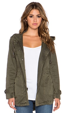 Velvet by Graham & Spencer Selia Army Jacket in Deep Green