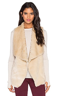 Velvet by Graham & Spencer Anouk Faux Fur Vest in Cream