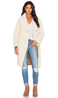 Velvet by Graham & Spencer Tangy Faux Fur Coat in Cream