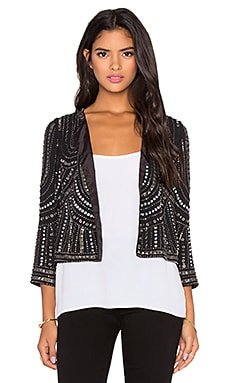 Velvet by Graham & Spencer Tansy Chiffon Nailhead Jacket in Black