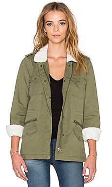 Lu Faux Fur Parka in Forest