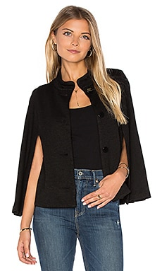 Cambree Long Sleeve Cape en Noir